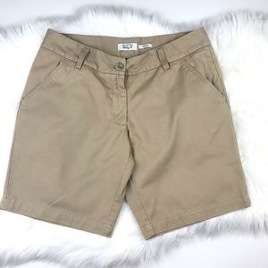 Khaki Flat Front Shorts Sz 10